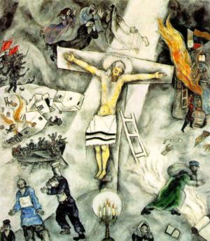 Chagall white-crucifixion